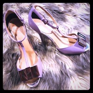 Madison by Shoedazzle Purple and Silver Pumps 8.5